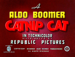 Catnip Cat Cartoon Logo (1942-1943) - Catnip Goes To Army.png