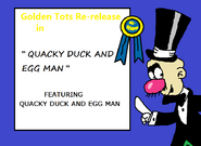 Quacky Duck and Egg Man 1937 1951 Reissued Title Card
