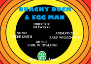 Quacky Duck and Egg Man 1937 Title Card