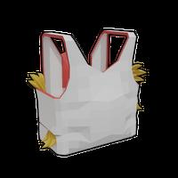 Chicken Man White Vest .png