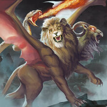 Monster demon chimera of earth