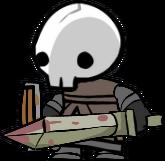 Saracen skeleton