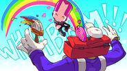 Pink Knight vs. Painter Boss