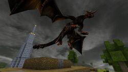A Dragon in Castle Miner Z