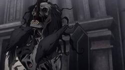 Taka's impaled corpse