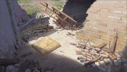 Castlevania Season 2 Background- The Belmont Hold Ruins (Magic Door Entrance)