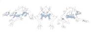Blue fangs model