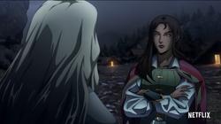 Greta talking to Alucard in S4 trailer