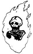 BL Flaming Skull