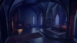 Castlevania Season 3 Background- Alucard's Bedroom 1 by Tucker Roche