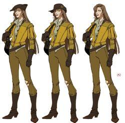 Saint Germain's Partner (Adventurer Lady) Concept Art