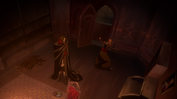 Isaac and dracula retreat to the study