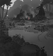 Visdev of lisas burned house outside lupu village