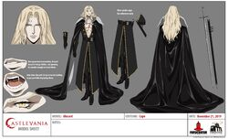 Alucard (Adrian Tepes) Season 4 Model Sheet