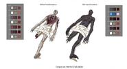 Hectors night creature transformation model sheet
