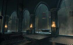 Castlevania Season 2 Background- Isaac's Lab by Bo Li