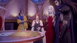 The Council of Sisters looking at the map
