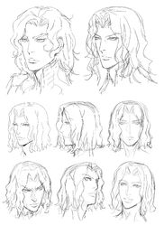 Hector Expressions Model Sketch (Art Book)