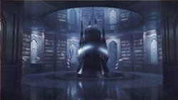 Castlevania Season 1 Background- Dracula's Library