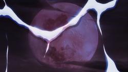 Near blood moon reflection