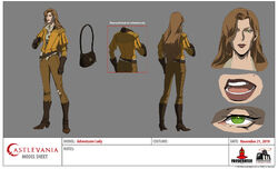 Adventurer lady model sheet