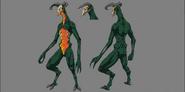 Flame Demon Model Sheet
