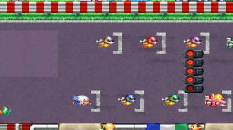 Kid Dracula - Bonus stage racing game