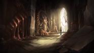 Shattered teleportation room