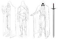 Dracula's Soldier Outline Sketch Model