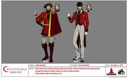 Saint Germain Entrance Outfit including his COD outfit (S4E4) Model Sheet