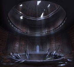 Castlevania Season 2 Background- Dracula's Library