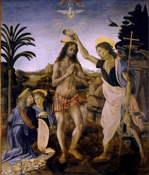 Battesimo di Cristo (Verrocchio e Leonardo).jpg
