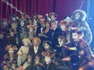 Cast & swings with Gillian Lynne & Michael Crawford