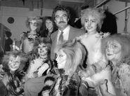 Tom Selleck Jillie Mack backstage Broadway 1983 02