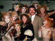 Tom Selleck Jillie Mack backstage Broadway 1983 01