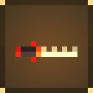Огненный зубчатый меч