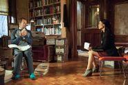 003 Ancient History episode still of Sherlock Holmes and Joan Watson