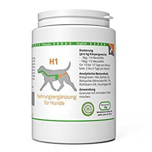 ww7 H1 | Darm & Wurm Formel für Hunde | 150g Natürliches Premium Granulat: Amazon.de: Haustier
