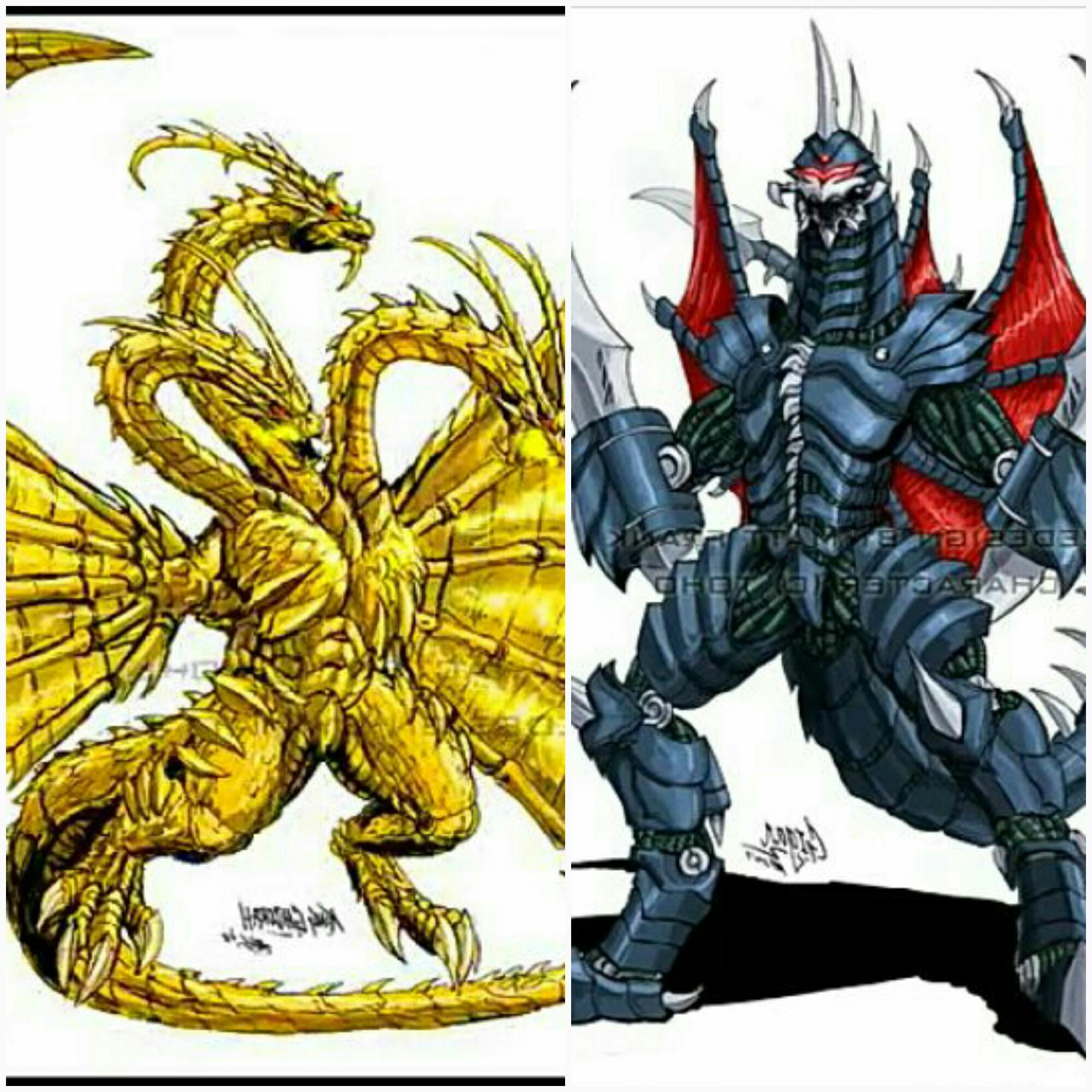 king guidorah 1991 vs gigan 2004