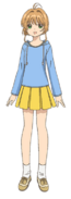 Casual Blue Hoodie and Yellow Skirt Outfit