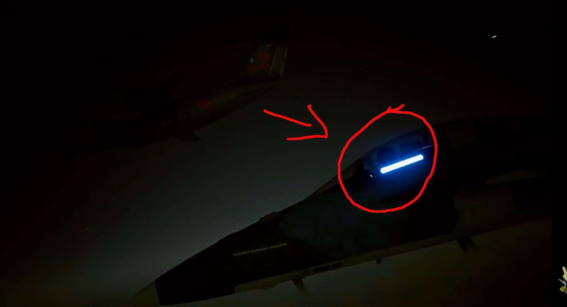 F/A-18F UAV inside