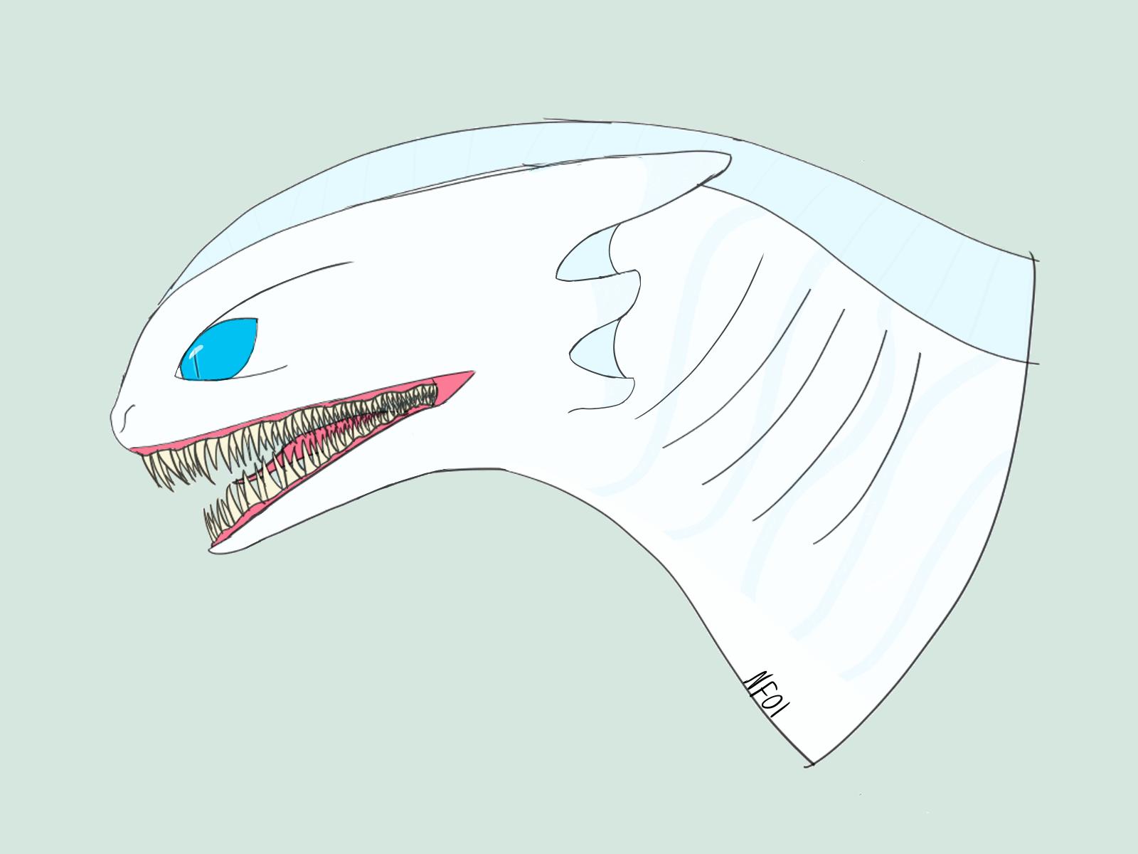 My take on an actually aquatic Light Fury
