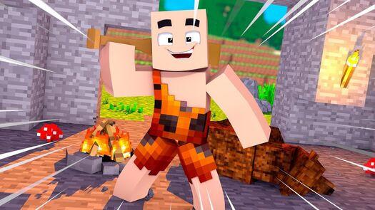 Minecraft - HOMEM DAS CAVERNAS ! - ANIMAIS FANTÁSTICOS Ep 2 ‹ LOKI ›