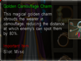 Golden Camouflage Charm
