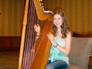 Hayley with the harp