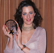 Deirdre Shannon with her award