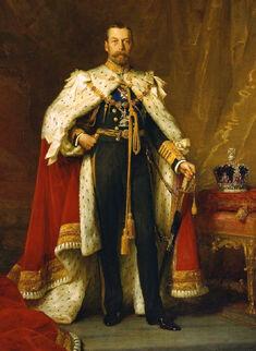 Full-length portrait in oils of George V