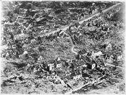 Aerial view of ruins of Vaux, France, 1918, ca. 03-1918 - ca. 11-1918 - NARA - 512862