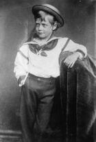 Boy wearing a sailor suit