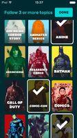FANDOM app pick your topics